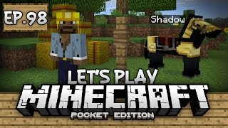 Survival Let's Play Ep. 98 - AUTO COCOA BEAN FARM & NAMING HORSES!!! - Minecraft PE (Pocket Edition)