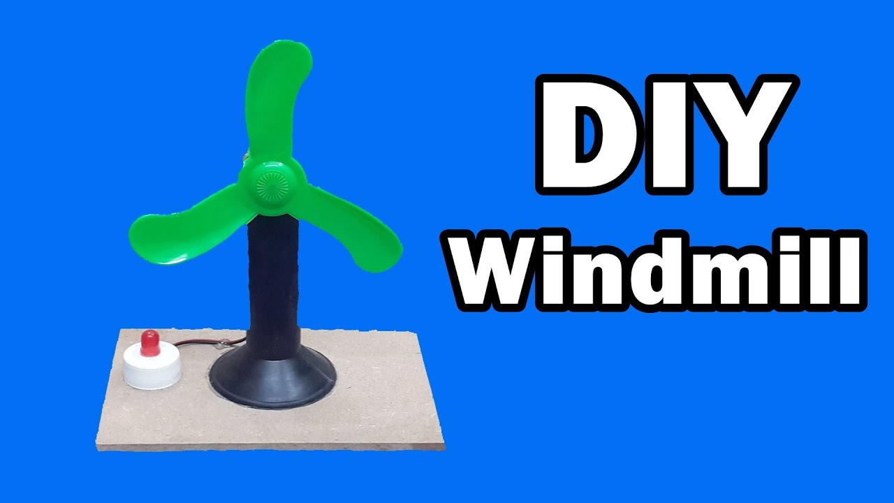 How To Make A Mini Windmill At Home