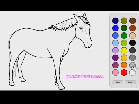 Horse Coloring Games - YouTube