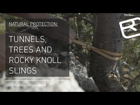 Using natural anchors when climbing: Tunnels, trees and rocks