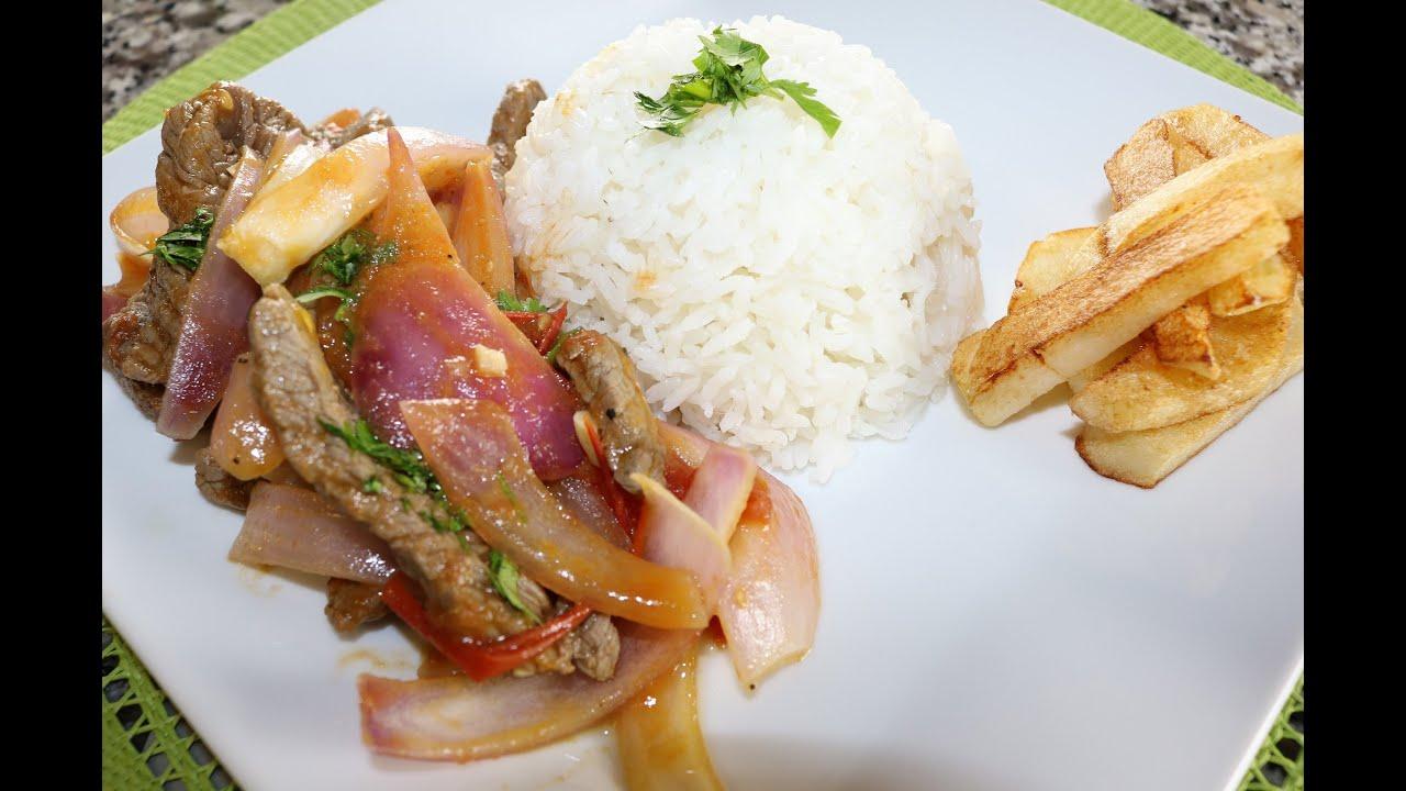 Receta peruana de lomo saltado comida rica y facil de for Facil de cocinar