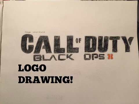 Call Of Duty Black Ops 2 Logo Drawing Time Lapse Youtube