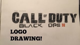 Call of Duty Black Ops 2 Logo Drawing (Time Lapse)