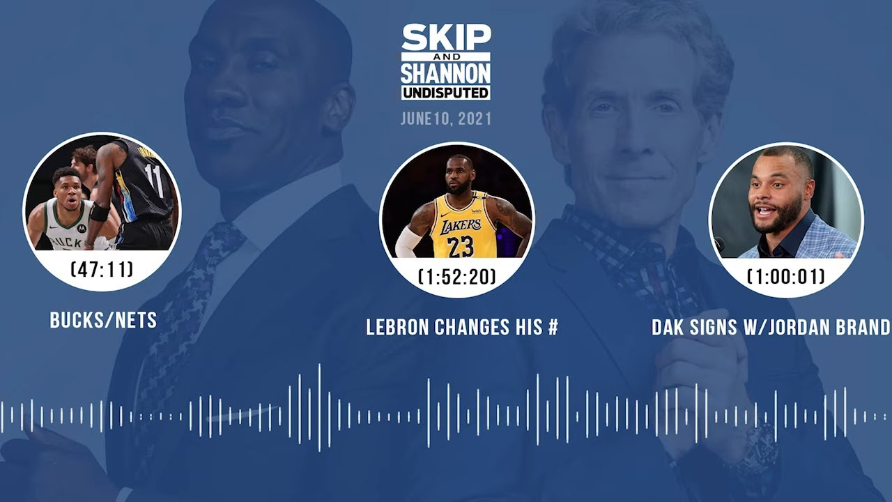 Clippers/Jazz G2, CP3 Top 5 PG, LeBron changes jersey no. (6.10.21) | UNDISPUTED Audio Podcast