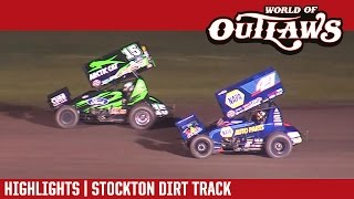 World of Outlaws Sprint Cars Stockton Dirt Track 3/25/17