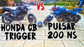 Pulsar 200 NS vs Honda CB Trigger 150 | Racing