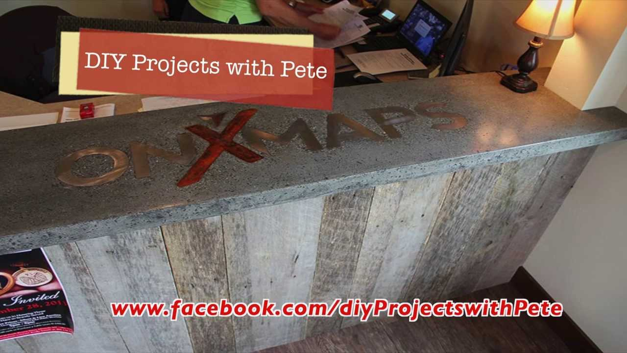 How To Embed A Metal Logo In Concrete Youtube