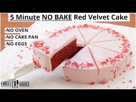 5 MINUTE Red Velvet Cake Recipe ! When you forget your anniversary!! 😱