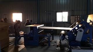 Oblique type high speed corrugation machine. (Bearing mounted)
