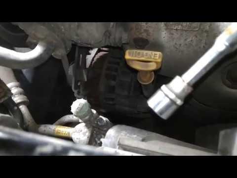 Как подтянуть ремень генератора на хендай гетц