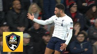 Alex Oxlade-Chamberlain pokes Liverpool in front against Bournemouth | Premier League | NBC Sports