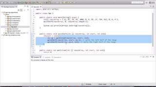 QuickSort HW and solution