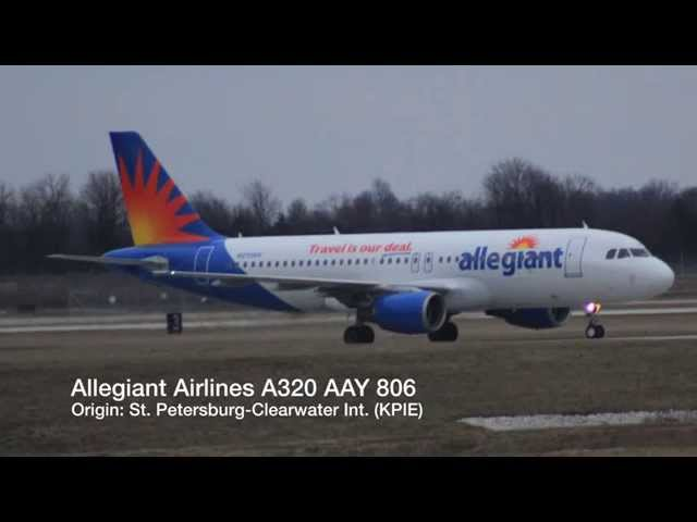 RARE Allegiant Airlines A320 Arriving @ Springfield-Branson National Airport