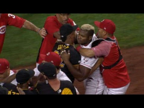 MLB | Benches Clear In Cincinnati Vs Pittsburgh Pirates | Full Fight