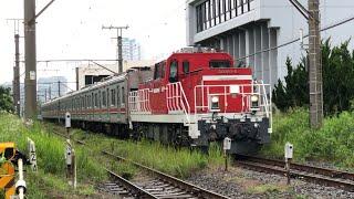 【甲種輸送】DD200+東急目黒線3000系 踏切通過