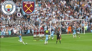 MANCHESTER CITY VS WEST HAM MATCHDAY VLOG! | STERLINGS ON FIRE! | PREMIER LEAGUE MATCHDAY VLOG
