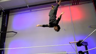 Gymnastics champion Stacey Ervin Jr. takes flight at the WWE Performance Center