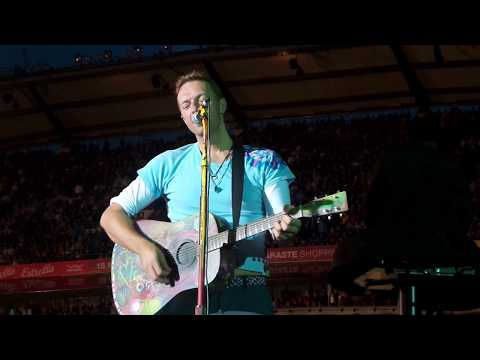 Coldplay LIVE Gothenburg - Impro song about the weather and the audience - June 25th 2017