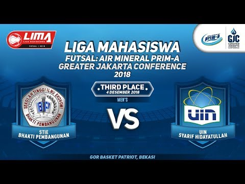 "STIE BP VS UIN JKT MEN""S LIMA FUTSAL : AIR PRIM-A GREATER JAKARTA CONFERENCE 2018"