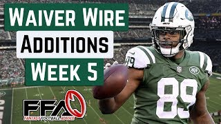 Top Waiver Wire Targets - Week 5 - 2019 Fantasy Football Advice