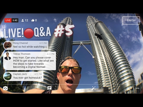 LIVE 🔴 from Kuala Lumpur Q&A Vlog #5 🇲🇾  How to be a Digital Nomad, Amazon FBA, Expat Travel Life