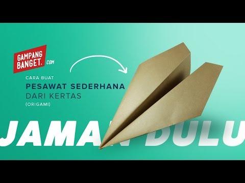 Membuat Origami Pesawat Sederhana
