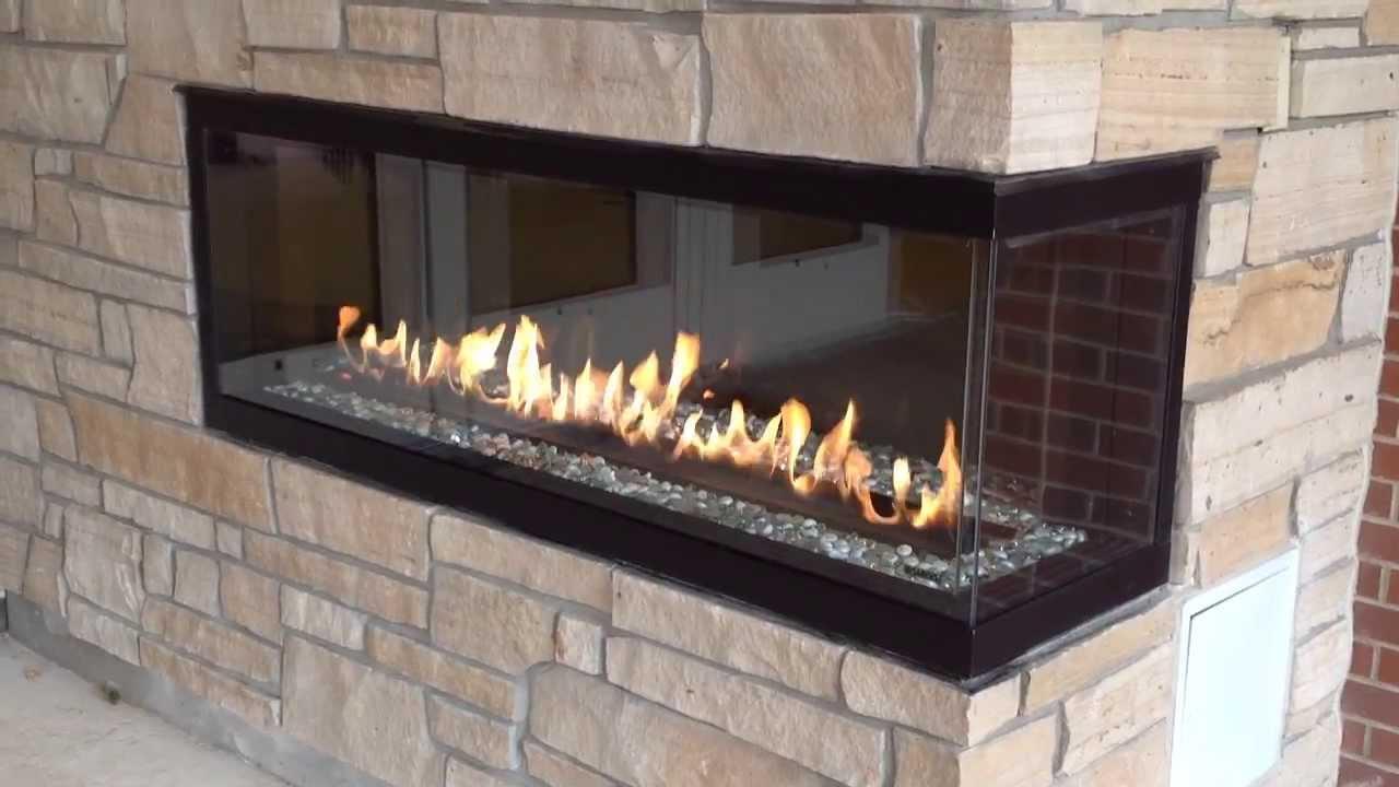 Montigo C520CR Custom fireplace by Colorado Custom Fireplace - YouTube