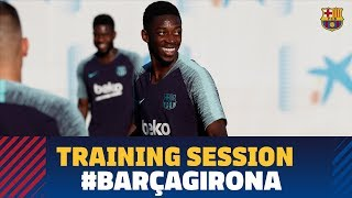 Video Last training session before the match against Girona download MP3, 3GP, MP4, WEBM, AVI, FLV September 2018