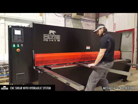 CNC Shear Metfab PB Series 1/4'' x 10 feet