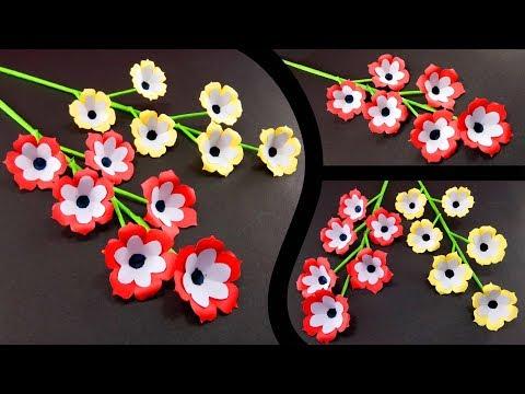 Easy Flowers Making   Handmade Gift Ideas : DIY Paper Crafts