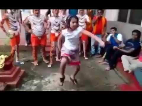 TULU Kid Amazing Huli Dance   Tradition of Tiger dance