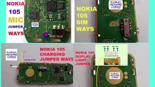 NOKIA 105 Display Light,Mic,Charging,Insert Sim Problem How To Make Jumper