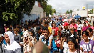 caravana de migrantes  trump amenaza a honduras  guatemala y el salvador