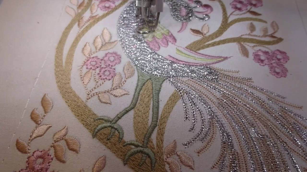 Machine Embroidery Design Peacock By Royal Present