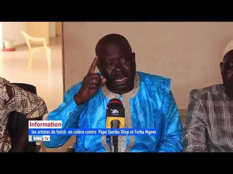 [COLERE]: les Artistes de fatick très en colère contre les proches du président Macky Sall......