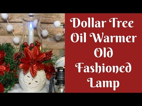 Dollar Tree Christmas Crafts: Dollar Tree Oil Warmer Lamp