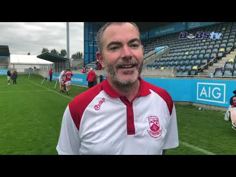 St Brigids manager Sean Fraine speaks to DubsTV after Junior A Hurling Final win