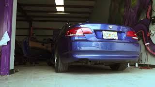 BMW 328i E92 Muffler Delete + Rev & WOT Acceleration