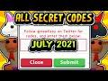 """ALL SECRET ADOPT ME CODES JULY 2021!!"" FREE NEW Pets / Bucks Codes (Roblox)"