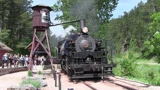 Steam Train near Mount Rushmore! 1880 Train!