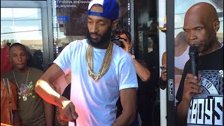 "Nipsey Hussle's GRAND OPENING of ""The Marathon Store"""