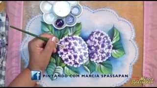 Pintando em 5 Minutos com Márcia Spassapan – Hortênsia – Carga Dupla