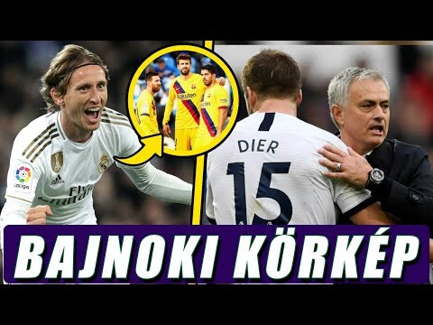Tovább tapad a Real a Barcára, Mourinho győzelemmel debütál a Tottenhamnél