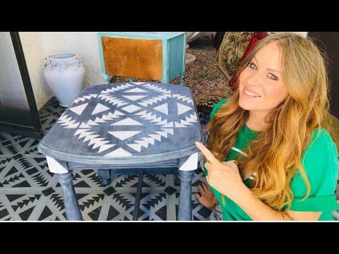 diy-end-table-makeover-w/-annie-sloan-chalk-paint-athenian-black-w/-white-wax