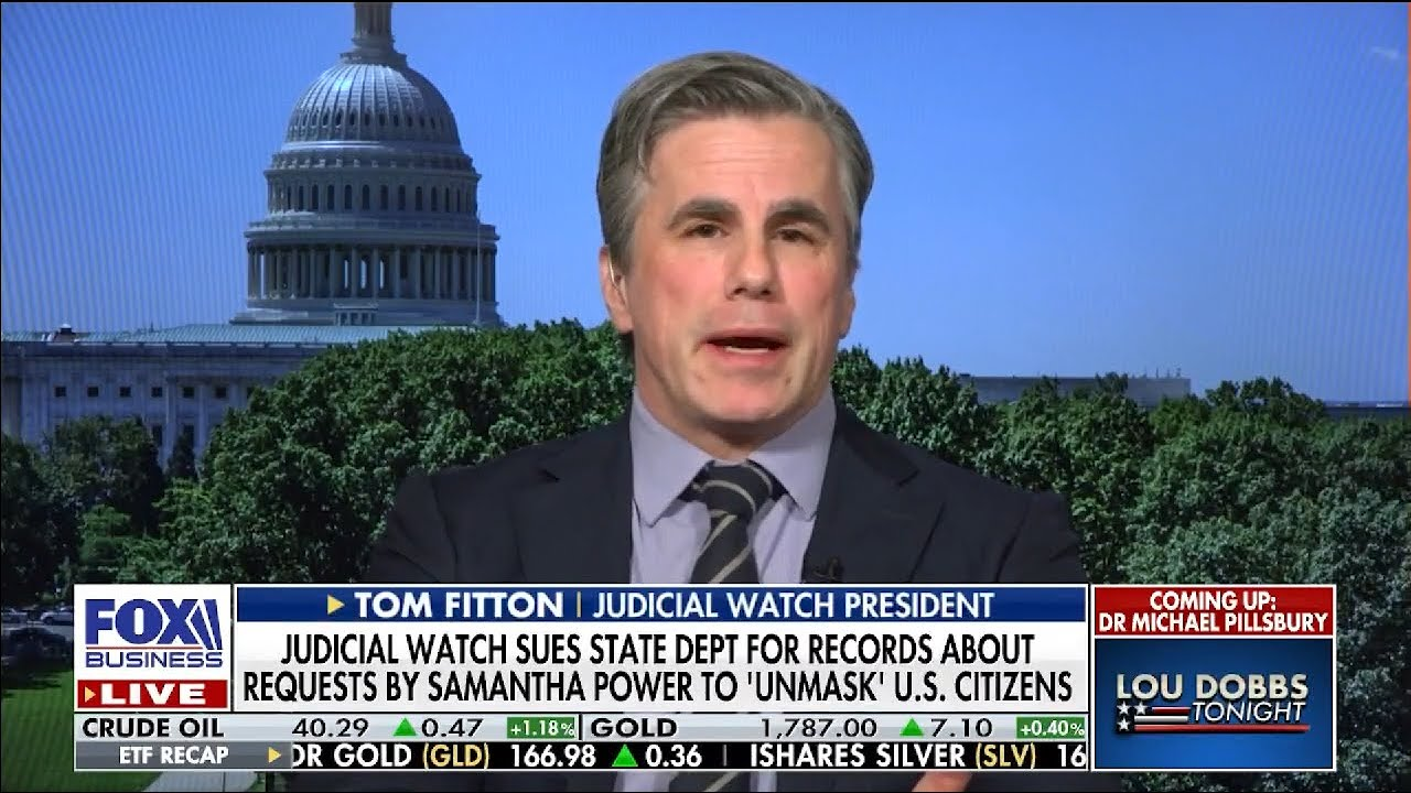 UNBELIEVABLE: NO ACTION TAKEN by DOJ/Congress on #Obamagate--Judicial Watch Sues for the Truth