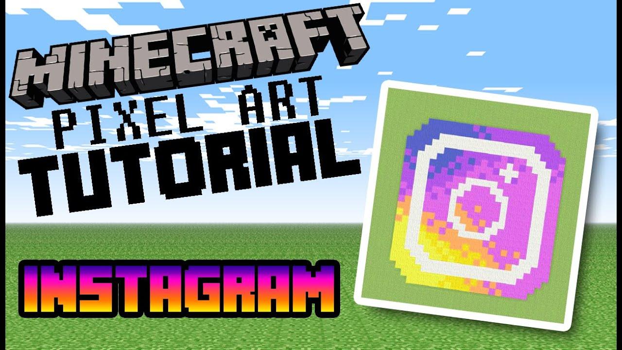 Instagram Logo Minecraft Pixel Art Tutorial