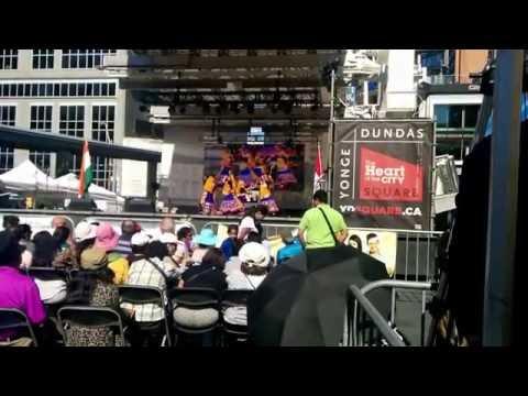 Ethnic Dancers Perform at Yonge Dundas Square Summer 2016