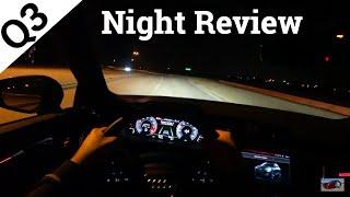 Audi Q3 Prestige Night Lighting & POV Drive
