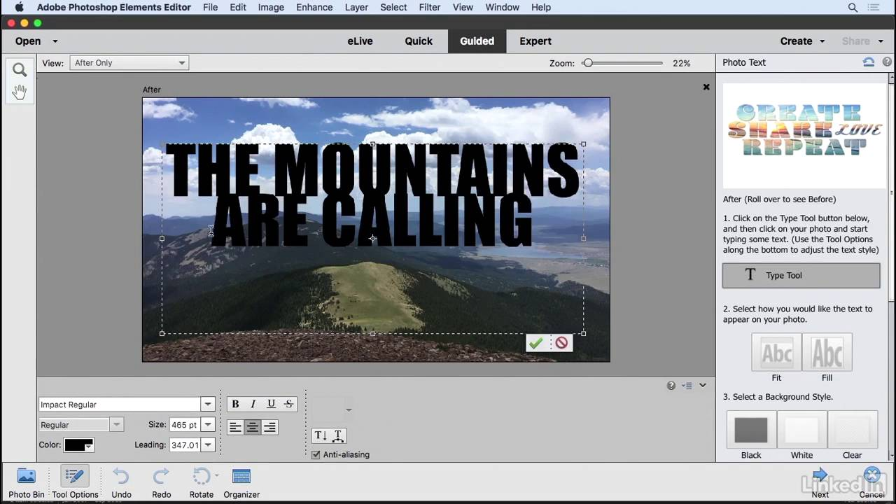 Photoshop elements tutorials for beginners gallery any tutorial creating photo text learning photoshop elements 15 lynda creating photo text learning photoshop elements 15 lynda baditri Gallery