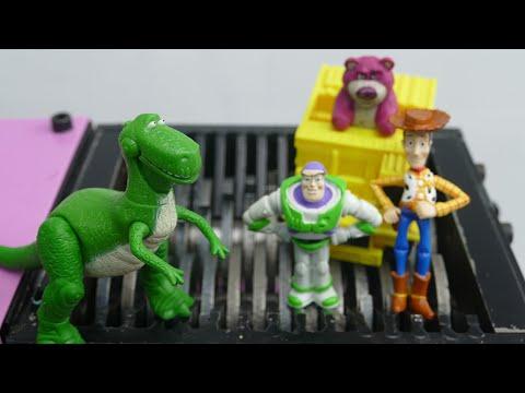 Shredding TOY STORY Characters, Woody Sheriff, Buzz Lightyear, Rex, Lotso, Slinky, Jessie, Bullseye.